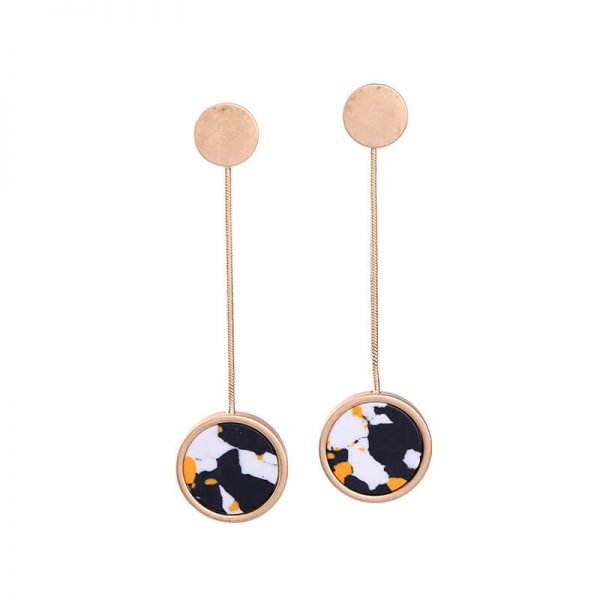 multicolor round resin hanging statement earrings 3