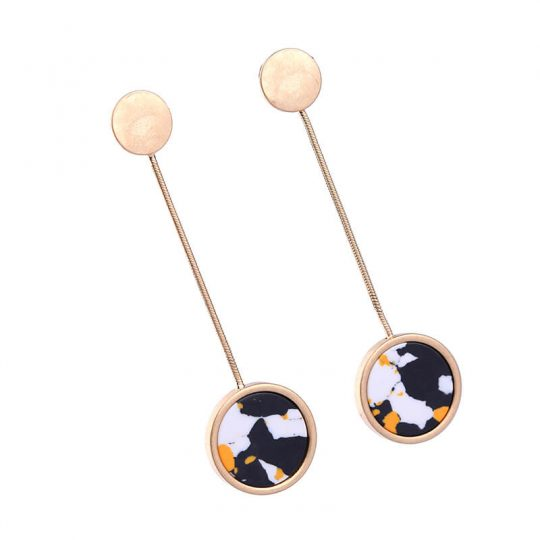 multicolor round resin hanging statement earrings 5