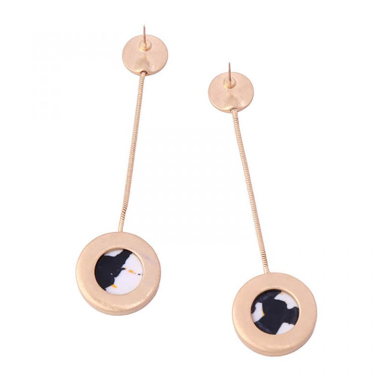 multicolor round resin hanging statement earrings 6