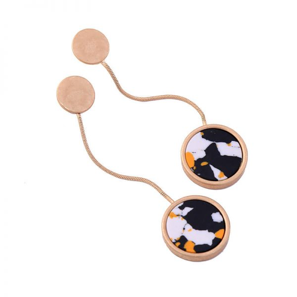 multicolor round resin hanging statement earrings 7