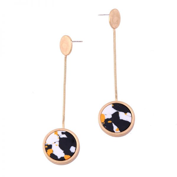 multicolor round resin hanging statement earrings 8