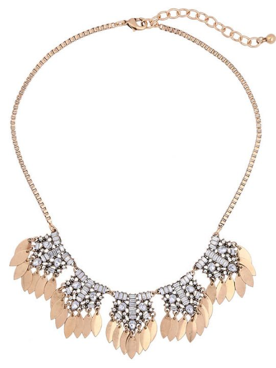 petal crystal statement necklace 2