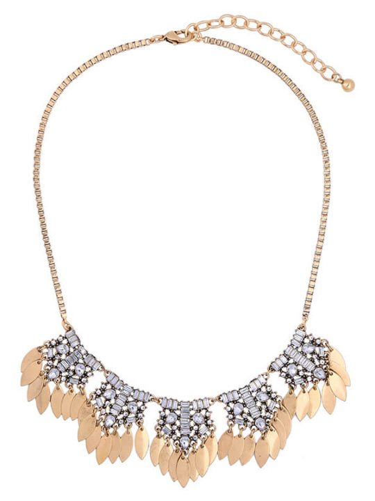 petal crystal statement necklace 3