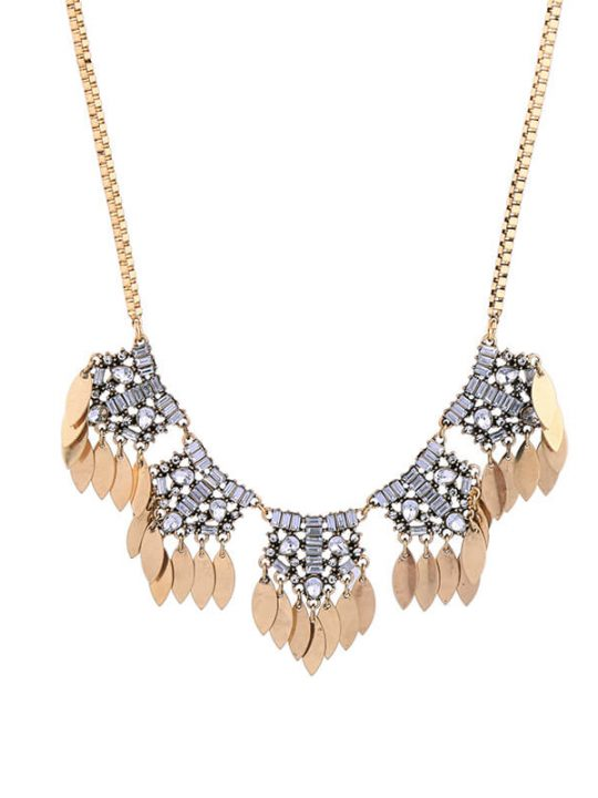 petal crystal statement necklace 6
