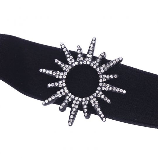 sun black crystal choker necklace 5