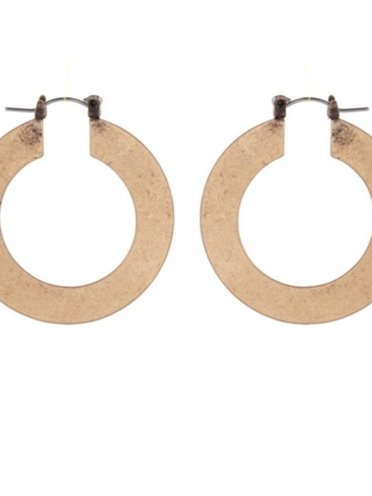 Ancient Gold Hoop Earrings