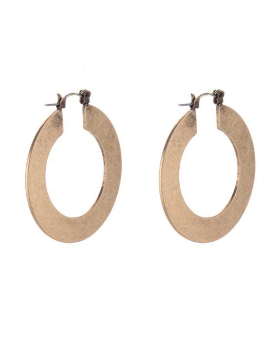 Ancient Gold Hoop Earrings