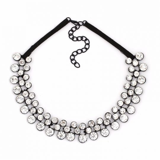 Black_Clear_Stone_Circle_Statement_Necklace_1