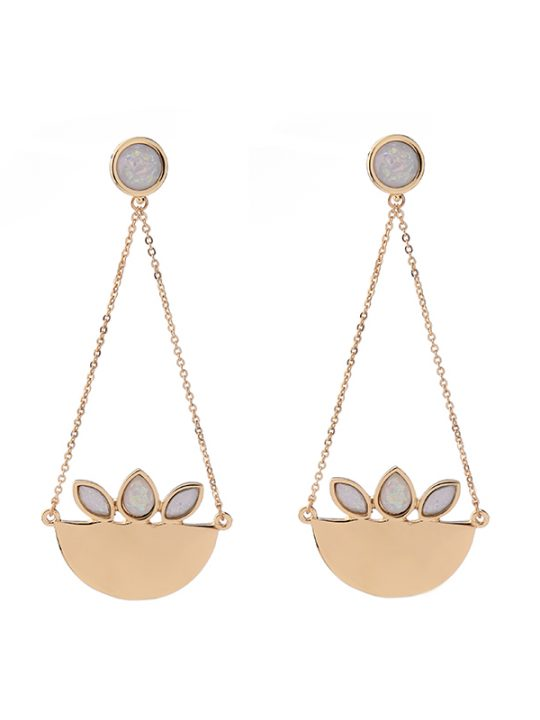 Caribou Gold Statement Earrings