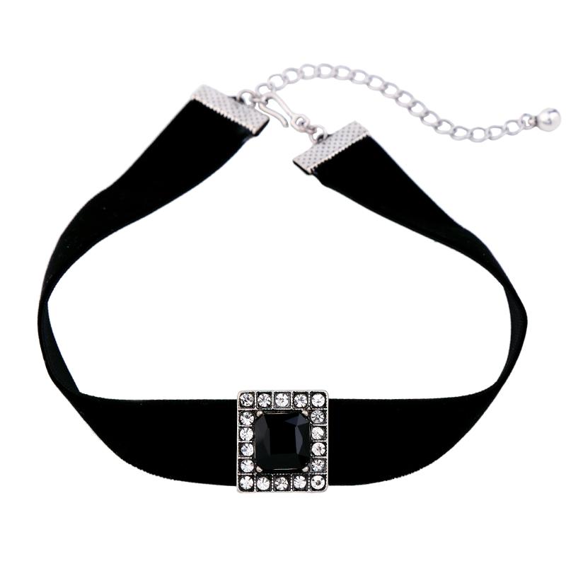 City Scape Pendant Choker Necklace