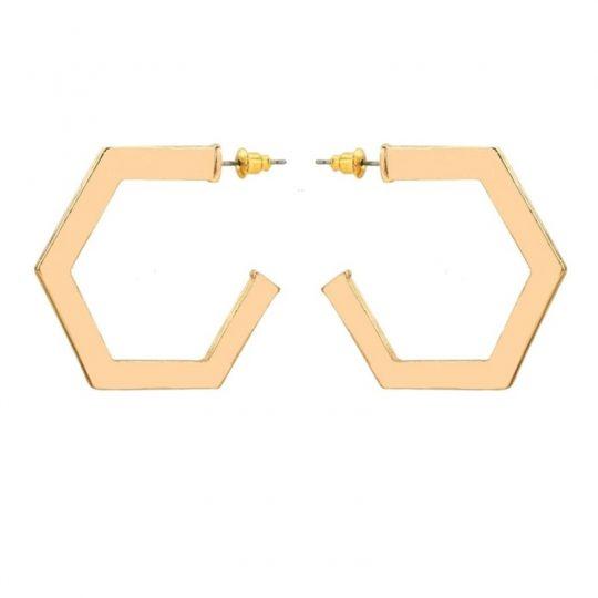 Gold-Octagonal-Hoop-Earrings-1