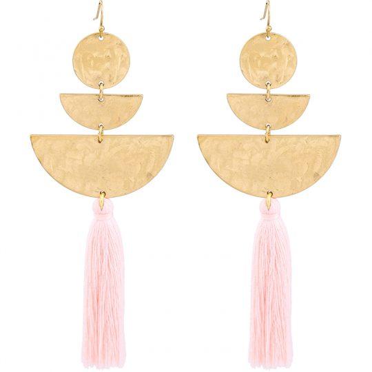 Hammered-Gold-Tassel-Earrings-1