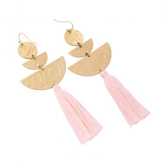 Hammered-Gold-Tassel-Earrings-3