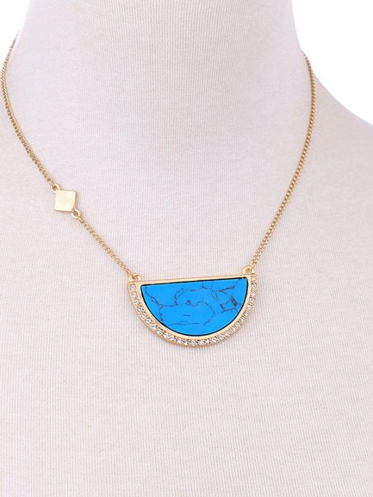 Karma Turquoise Pendant Necklace