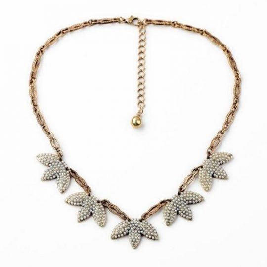 Mini-Pearl-Leaf-Statement-Necklace-1