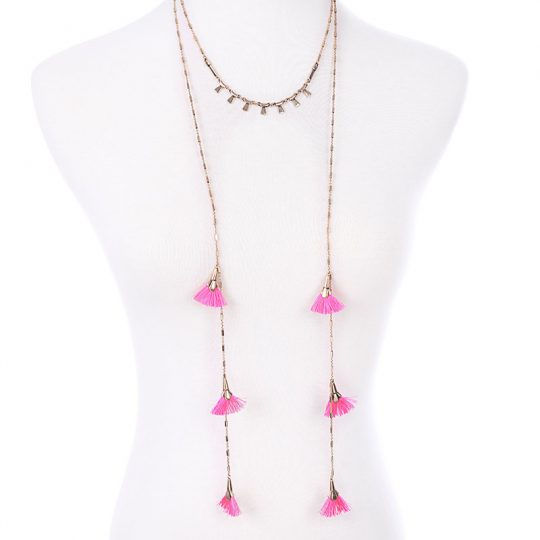 Pink-Tassel-Layer-Necklace-2