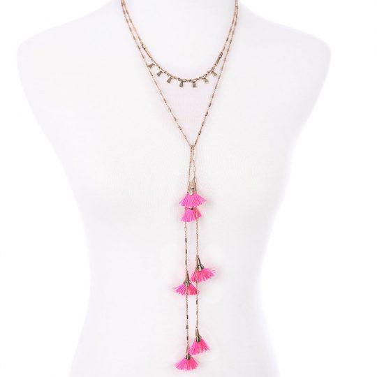 Pink-Tassel-Layer-Necklace-3