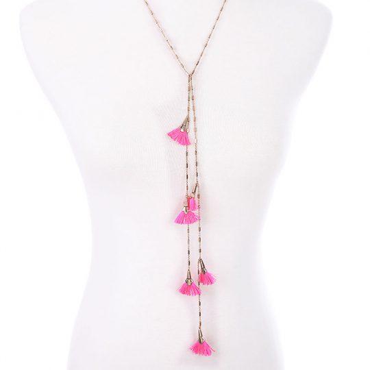 Pink-Tassel-Layer-Necklace-4