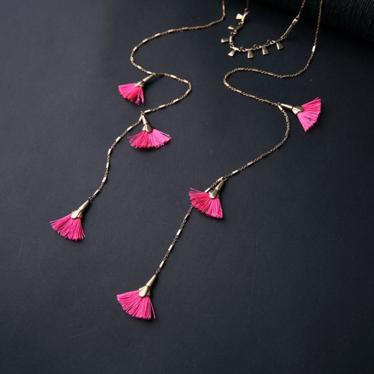 Pink-Tassel-Layer-Necklace-6