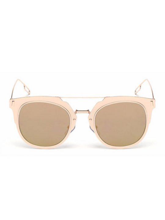 Pique Gold Metal Sunglasses