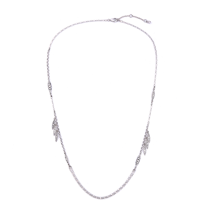 Silver Stone Layer Necklace
