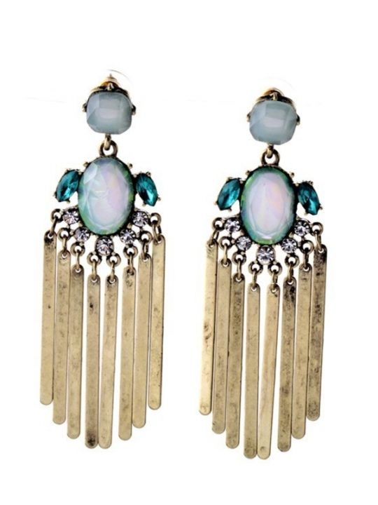 Stratosphere Iridescent Stone Statement Earrings