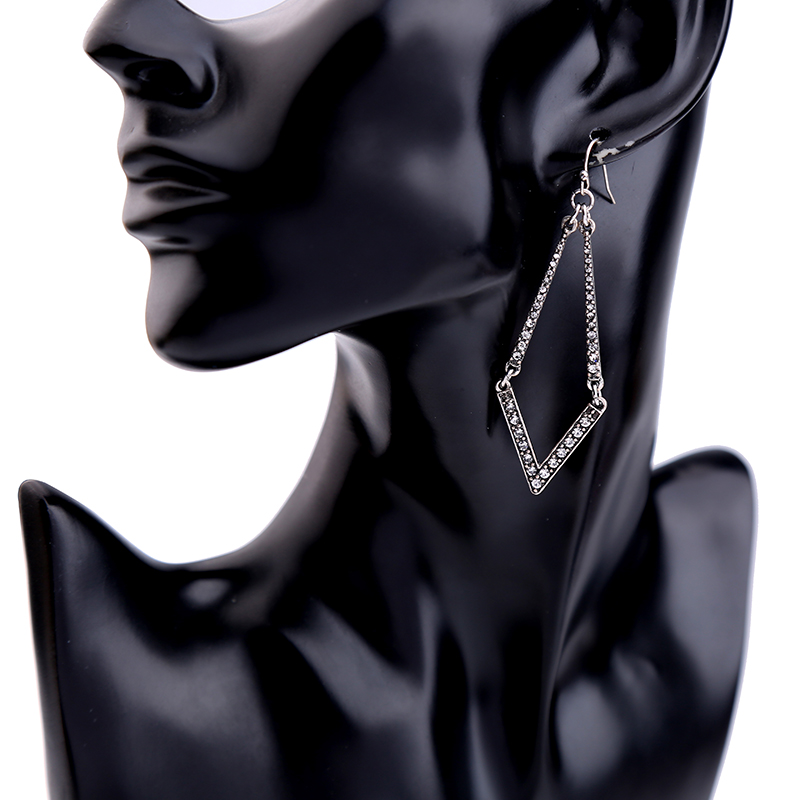 Treo Silver Crystal Statement Earrings