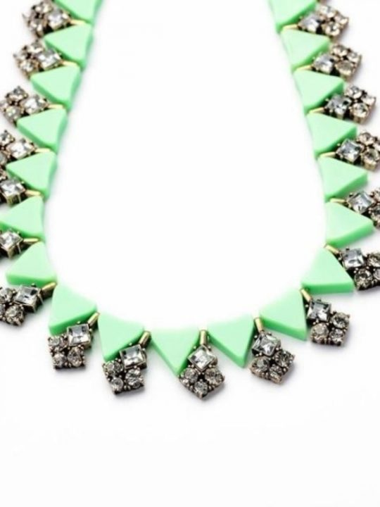 Trinket Green Collar Necklace