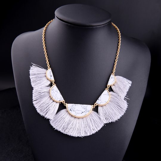 White-Marble-Tassel-Statement-Necklace-4