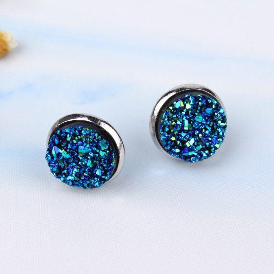 Geode-Medium-Silver-Stud-Earrings-Blue1