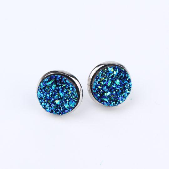 Geode-Medium-Silver-Stud-Earrings-Blue2