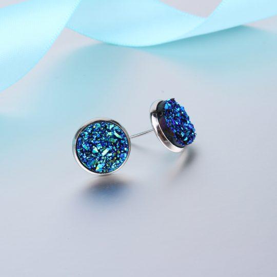 Geode-Medium-Silver-Stud-Earrings-Blue3