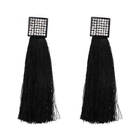 Pave-Square-Tassel-Earrings-Black