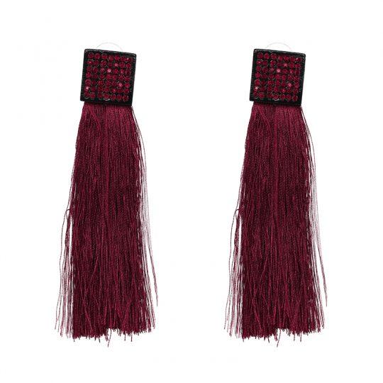 Pave-Square-Tassel-Earrings-Pink