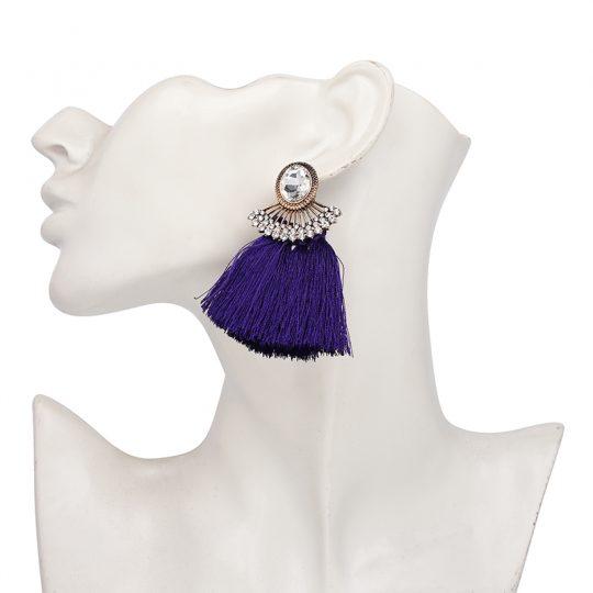 Purple-Tassel-Crystal-Statement-Earrings1