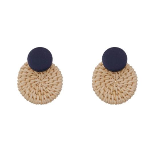 Basket-Circle-statement-earrings