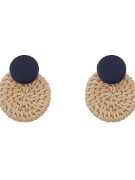 basket circle statement earrings