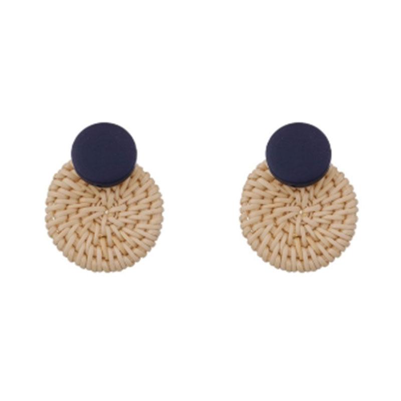 basket circle statement earrings